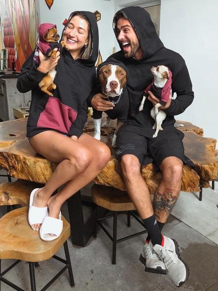 Gabriela Pugliesi e Erasmo com Buda, Nutella e Vanilla - Foto: Reprodução/Instagram