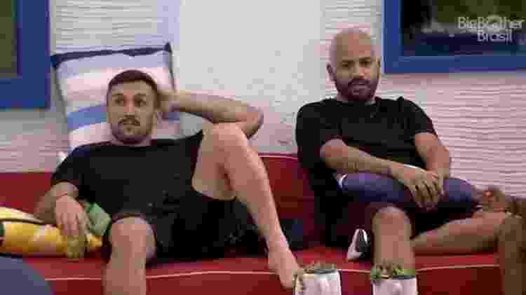 BBB 21: Arthur e Projota falam sobre vitória de João na prova do líder - Reprodução/Globoplay - Reprodução/Globoplay