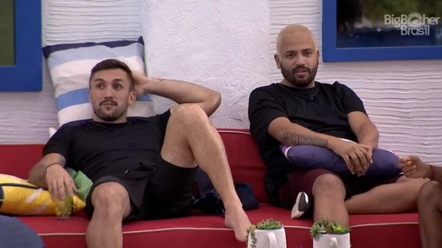 BBB 21: Arthur e Projota falam sobre vitória de João na prova do líder - Reprodução/Globoplay