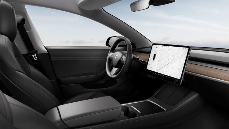 Tesla Model 3 Performance interior - Divulgação - Divulgação