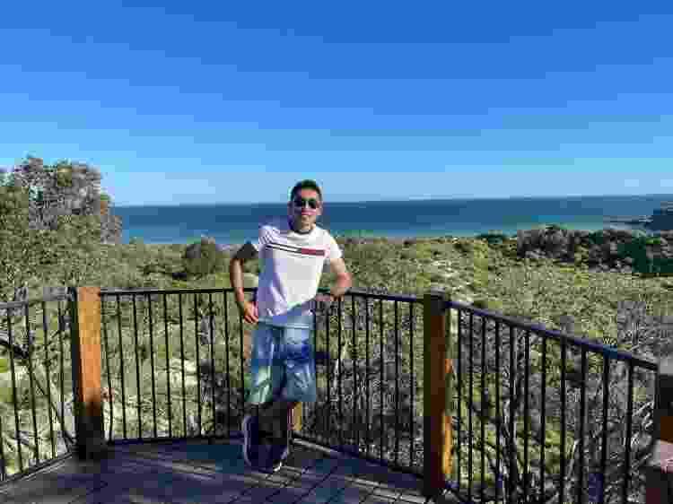 Wellington durante viagem pelo estado de New South Wales - Arquivo pessoal - Arquivo pessoal