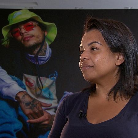 Valkíria Nascimento, mãe de MC Kevin, dá entrevista para a Record - Divulgação/Record TV