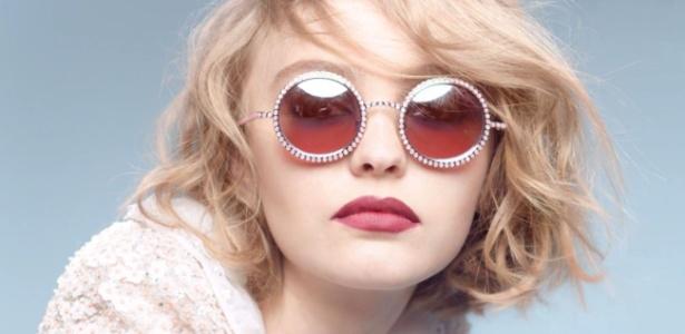 Lily-Rose Depp, 16, vai estrelar campanha de óculos da grife francesa - Divulgação