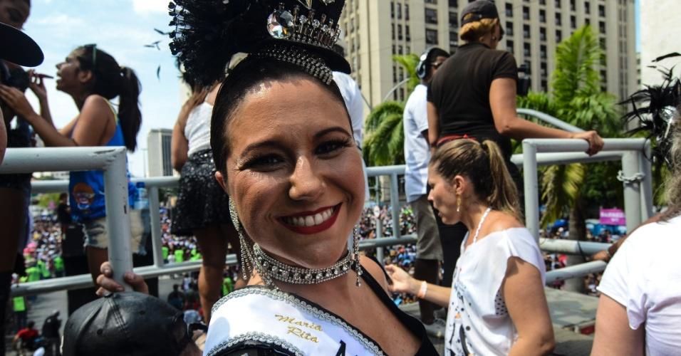06.fev.2016 -  A cantora Maria Rita é madrinha do bloco Cordão da Bola Preta, o mais antigo do Rio de Janeiro.