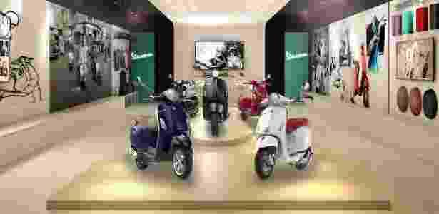 Butiques Vespa venderão scooters e também roupas e objetos ligados à marca - Divulgação