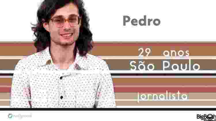 "Pedro ""BBB17"" - Reprodução/TV Globo - Reprodução/TV Globo"