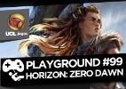 """Podcast: a jornada além do horizonte de Aloy em """"Horizon: Zero Dawn"""" - Arte/UOL Jogos"""