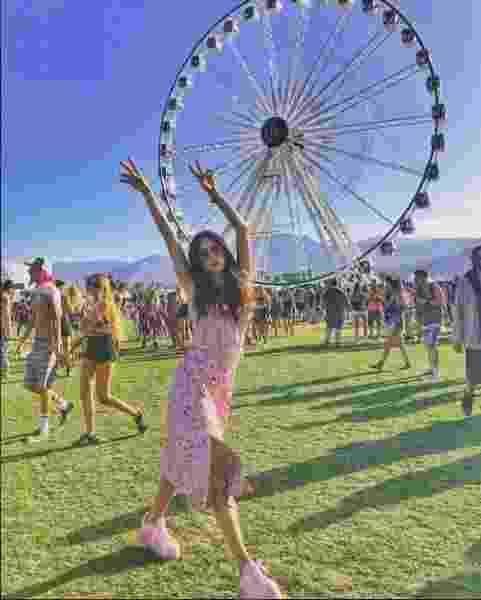 A atriz Thaila Ayala no festival de música e artes em Indio, na Califórnia - Reprodução / Intagram