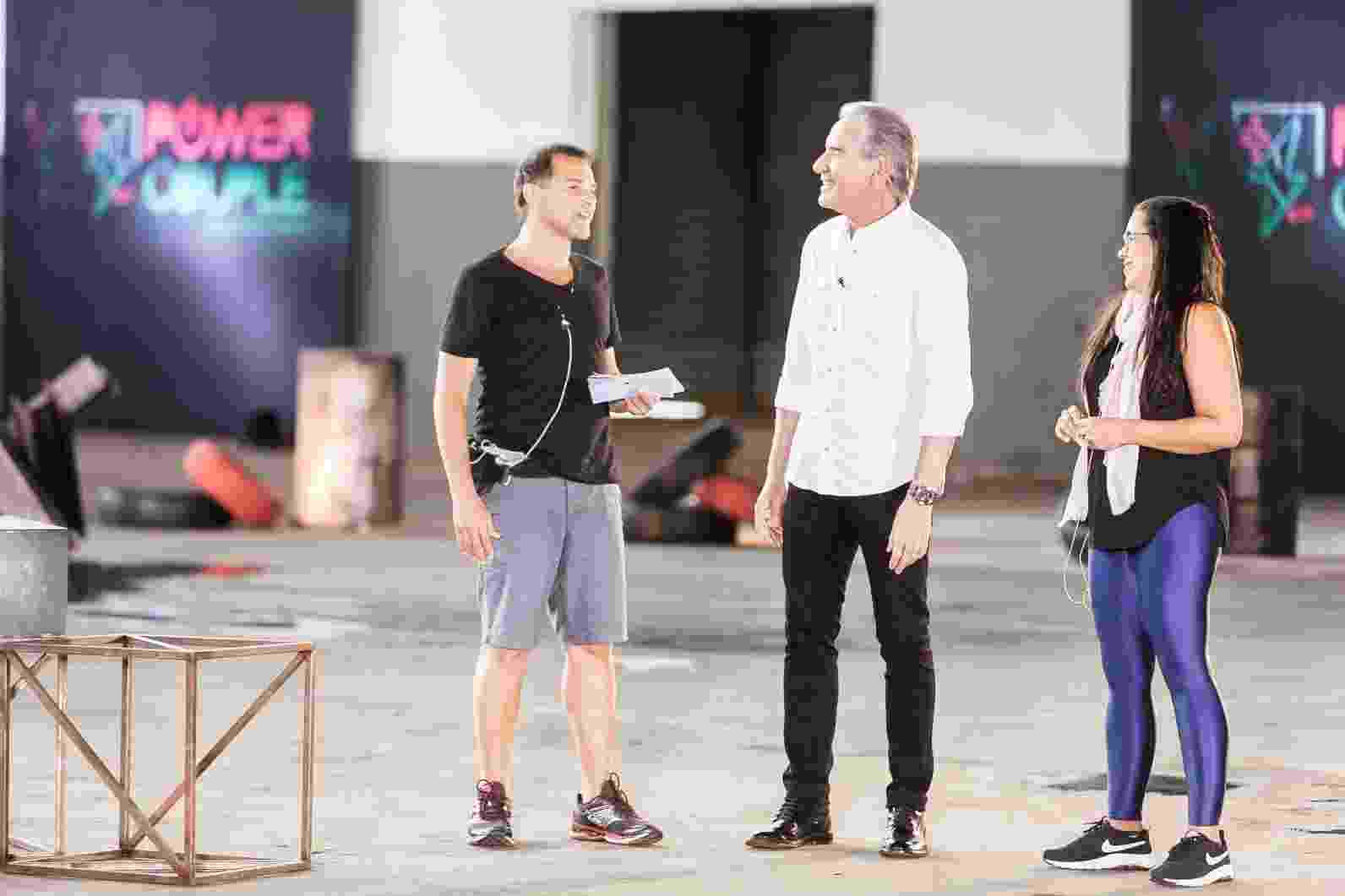 Casais participam da primeira prova da segunda temporada do Power Couple Brasil - Edu Moraes/Record TV