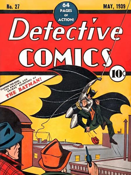 A primeira aparição do Batman nos quadrinhos - Reprodução