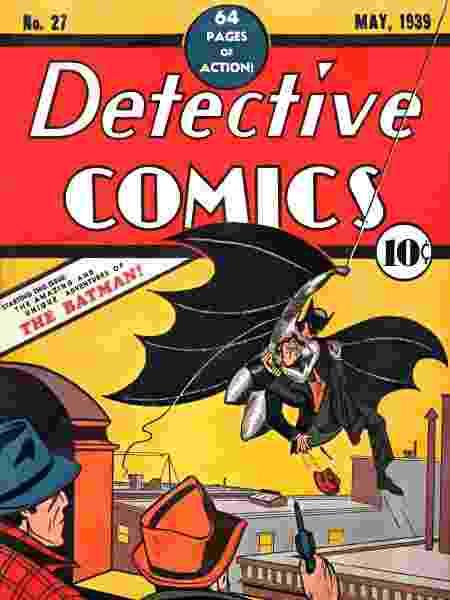 Capa da primeira aparição do Batman - Reprodução
