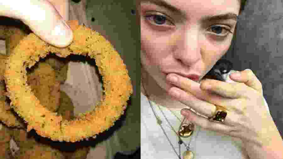 A cantora neozelandesa Lorde, uma possível adoradora de frituras  - Reprodução/Montagem