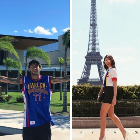 Neymar antecipou a viagem para a Barcelona e pode passar em Ibiza, onde Bruna Marquezine passa alguns dias  - Reprodução/Instagram/Montagem