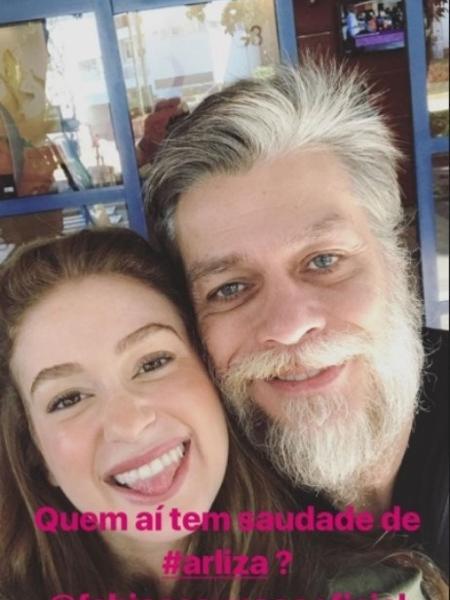 Marina Ruy Barbosa e Fábio Assunção se encontram na Globo - Reprodução/Instagram/marinaruybarbosa