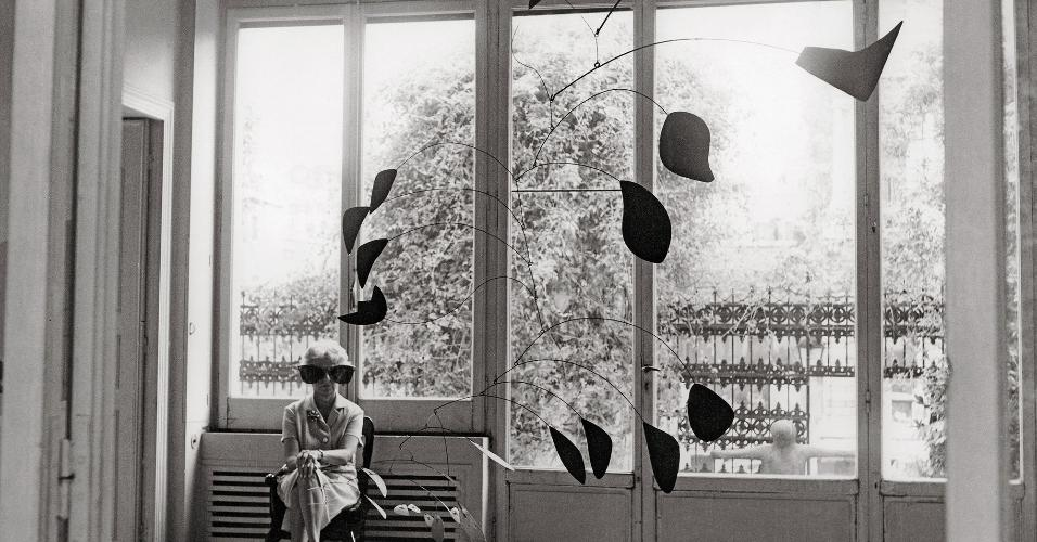 A mecenas e colecionadora de arte Peggy Guggenheim