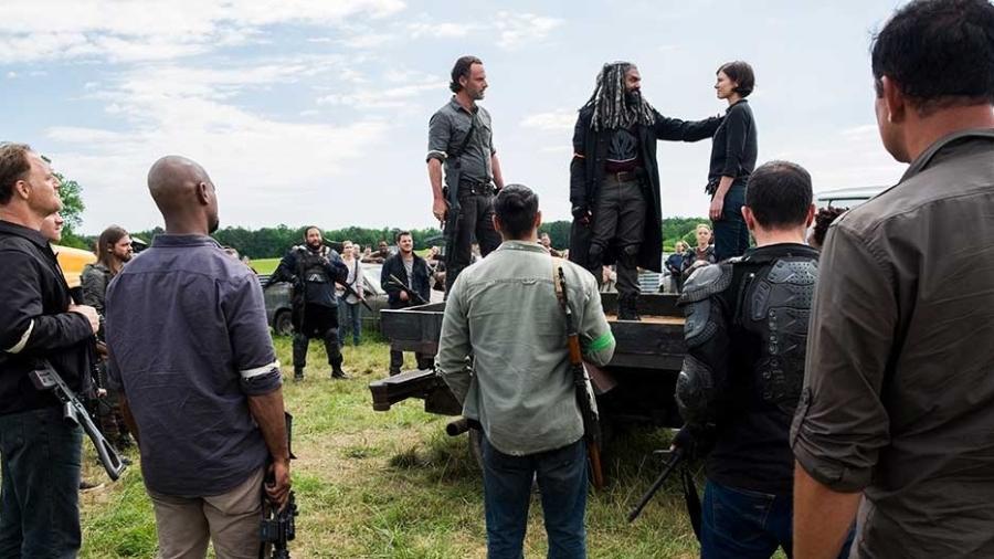 """Rick, Ezekiel e Maggie dão discurso motivacional na 8ª temporada de """"The Walking Dead"""" - Divulgação"""