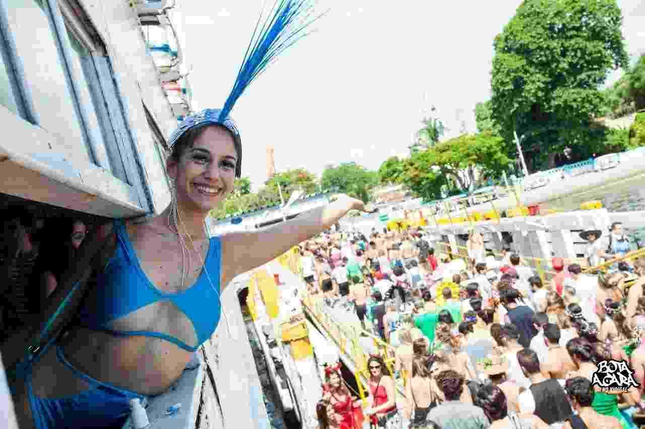 Foliões lotam as barcas rumo a Paquetá para o bloco Pérolas da Guanabara, neste sábado (3) - Gabriel Monteiro/Riotur