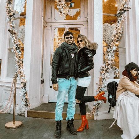 Ex-BBB Aline Gotschalg parabeniza o namorado - Reprodução/Instagram/alinegoficial
