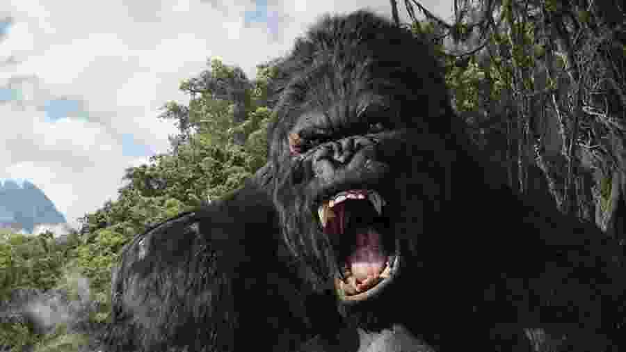 """Cena do filme """"King Kong"""", de 2005, dirigido por Peter Jackson, que será exibido no Campeões de Bilheteria de hoje - Reprodução"""