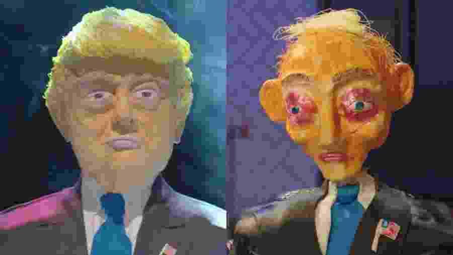 """Bolo Donald Trump em episódio da série """"Mandou Bem"""", da Netflix - Reprodução"""