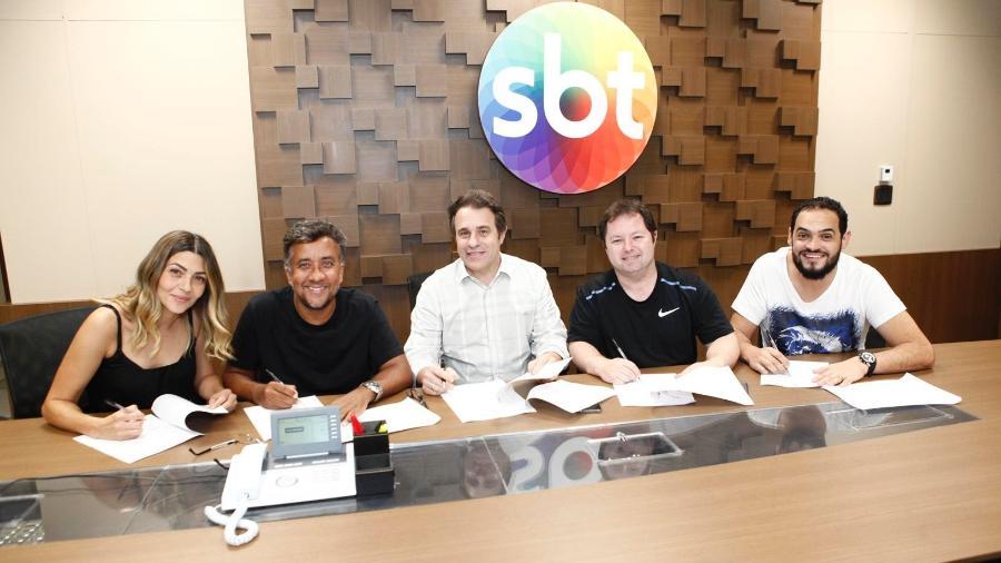 Marlei, Maurício, Fernando Pelegio, Porpetone e Matheus  - Gabriel Cardoso/SBT
