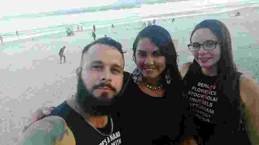 Jonattan, Thais e Yasmin vivem um relacionamento - Arquivo Pessoal