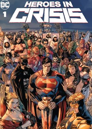 "Capa do quadrinho ""Heroes in Crisis"""