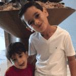 Henrique e Lucca, filhos do lateral Fagner - Reprodução/Instagram
