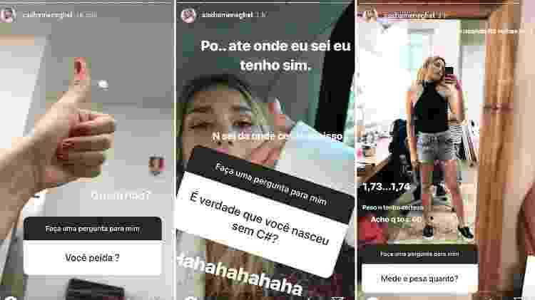Sasha responde a perguntas de seguidores  - Reprodução/Instagram - Reprodução/Instagram