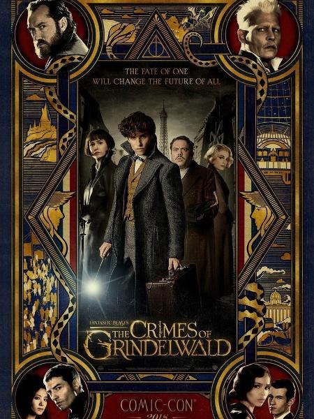"""Pôster de """"Animais Fantásticos: Os Crimes de Grindelwald"""" - Reprodução"""