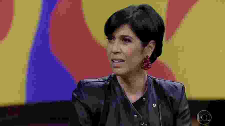 Maria Clara Gueiros no Conversa Com Bial - Reprodução/Globo