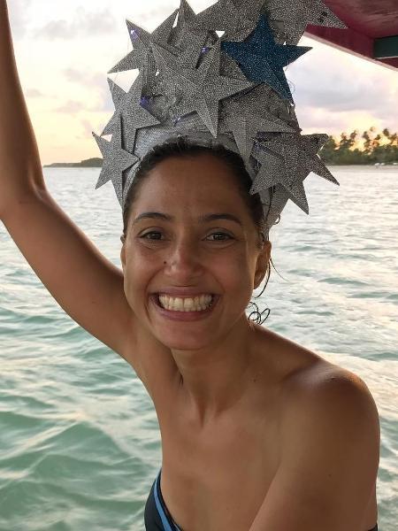 Camila Pitanga, durante as férias no último Carnaval. - Reprodução/Instagram