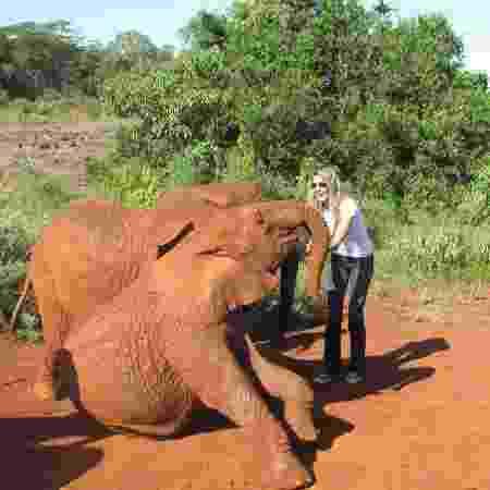 Gisele e elefante - Reprodução/Instagram - Reprodução/Instagram