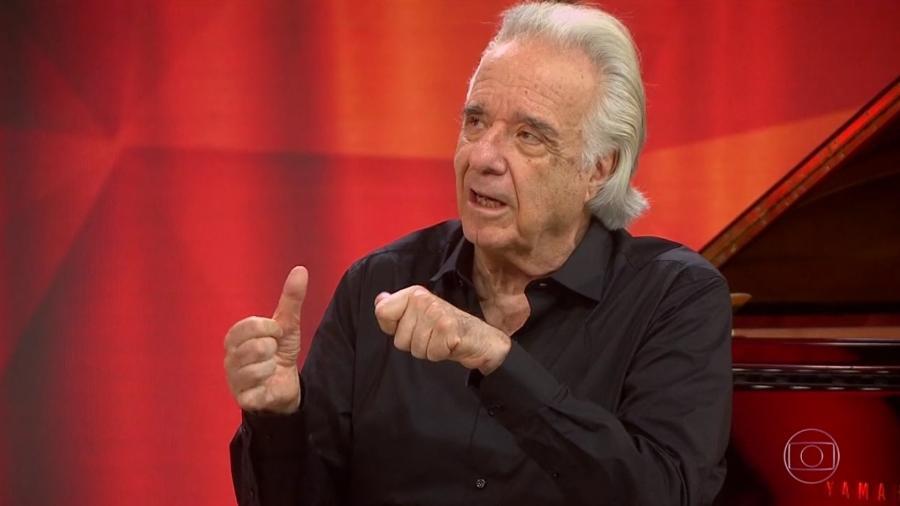 """O maestro João Carlos Martins no """"Fantástico"""" - Reprodução/TV Globo"""