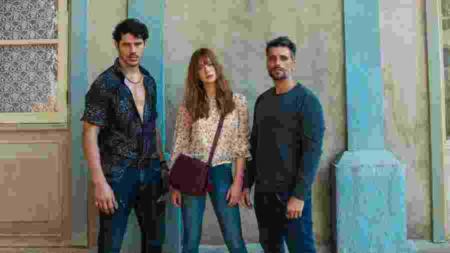 Júnior (José Loreto), Gabriel (Bruno Gagliasso) e Luz (Marina Ruy Barbosa) - Estevam Avellar/TV Globo