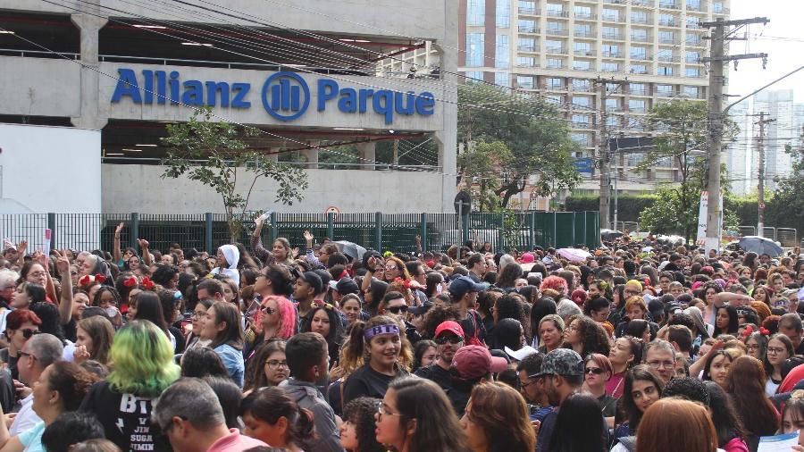 Nos últimos dois anos, estádio do Palmeiras recebeu 48 show musicais, incluindo o da banda BTS - Willian Moreira/Futura Press/Estadão Conteúdo