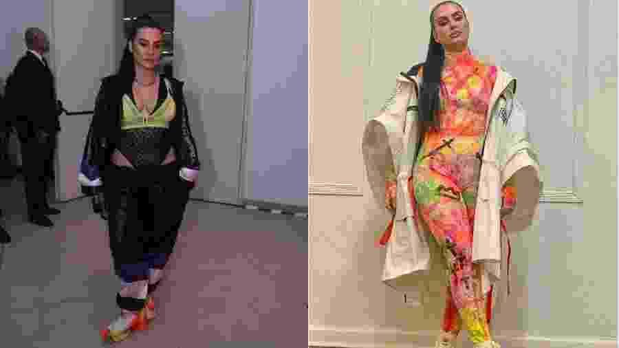 Cleo Pires com os dois looks que usou no Prêmio MTV Miaw  - Agência Brazil News// Reprodução/Instagram