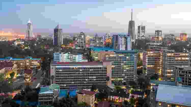 Paisagem urbana de Nairobi, cidade capital do Quênia, África Oriental - Getty Images/iStockphoto