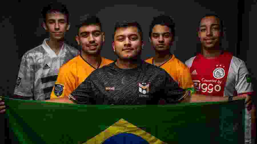 Pedro Resende, Ébio ?Ebinho?, Flávio ?Fifilza?, Victor ?Tore? e Henrique ?Zezinho? representaram o Brasil no Mundial de FIFA -  Divulgação / FIFA