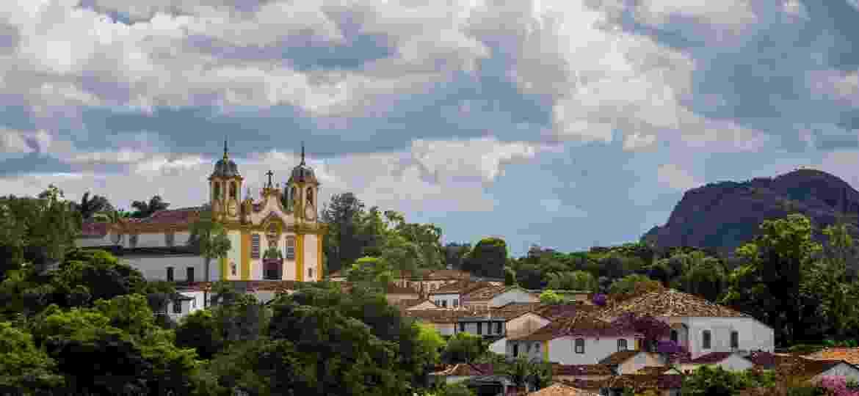 Vista de Tiradentes com destaque para a Matriz Santo Antonio - Alberto Lopes