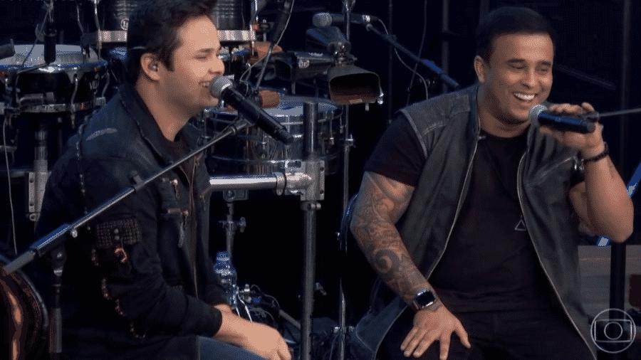 A dupla Matheus & Kauan nos Altas Horas - Reprodução/TV Globo