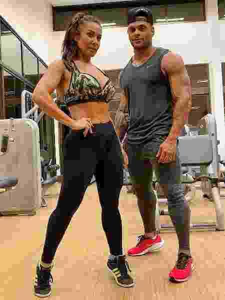 Scheila Carvalho e Tony Salles treinam juntos - Reprodução/Instagram