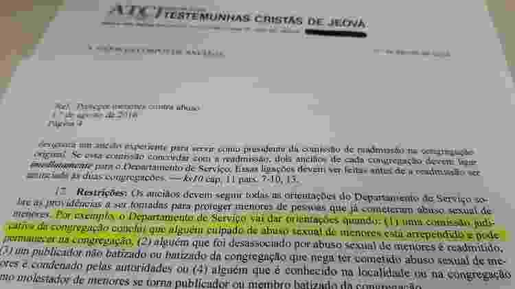 Desde 1992, a sede da igreja enviou nove cartas às filiais das Testemunhas de Jeová com orientações sobre como proceder em casos envolvendo abuso sexual de crianças - BBC News Brasil - BBC News Brasil