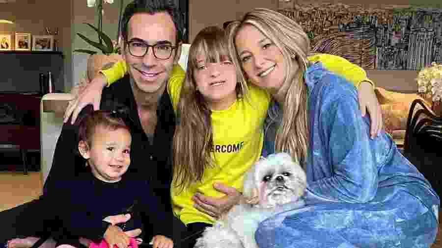 Manuella, Cesar Tralli, Rafaella Justus e Ticiane Pinheiro: domingo em família - Reprodução/Instagram