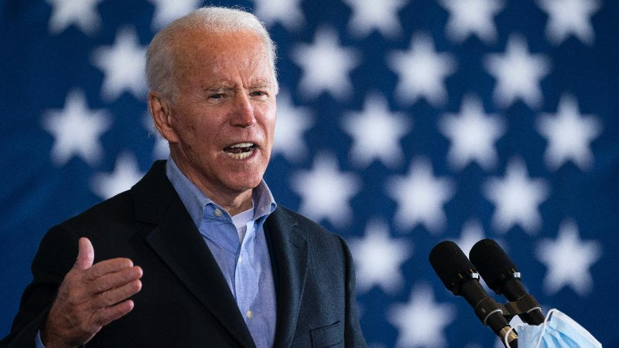 Democratic presidential nominee Joe Biden speaks at a get-out-the-vote drive-in rally at Cleveland Burke Lakefront Airport on November 02, 2020 in Cleveland, Ohio. One day before the election, Biden is campaigning in Ohio and Pennsylvania,  key battleground states that President Donald Trump won narrowly in 2016. (Photo by Drew Angerer/Getty Images) - Drew Angerer/Getty Images
