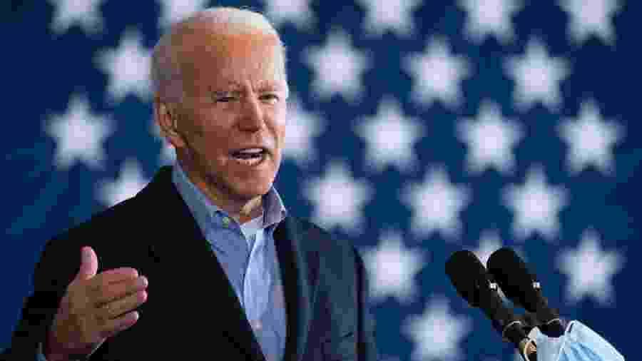 Joe Biden fala no Cleveland Burke Lakefront Airport - Drew Angerer/Getty Images