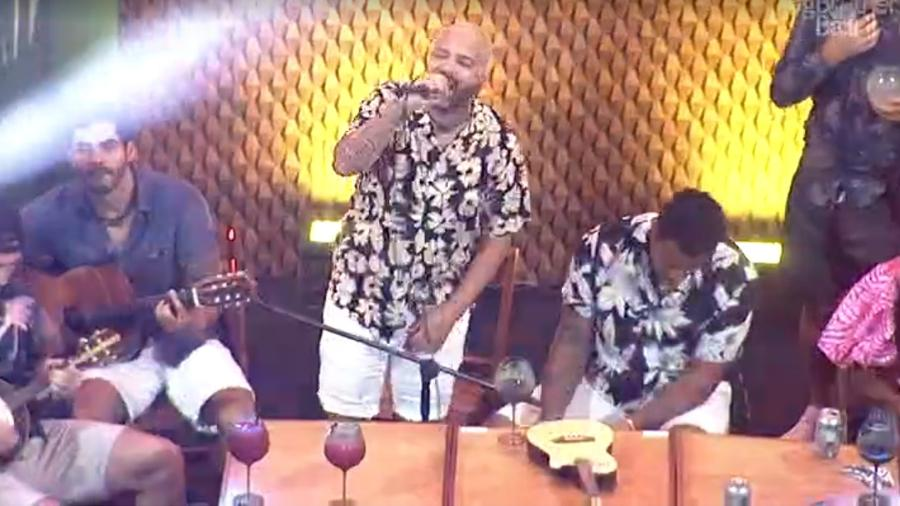 BBB 21: Projota ao vivo - Reprodução/Globoplay