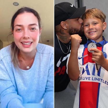 Carol Dantas/ Neymar e Davi Lucca - Reprodução/Instagram