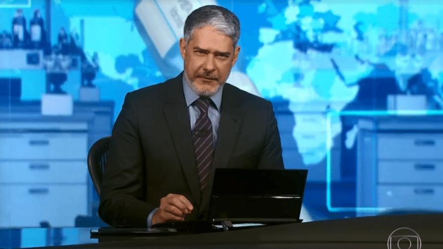 O apresentador William Bonner continuará no Jornal Nacional, segundo a Globo - Reprodução/TV Globo