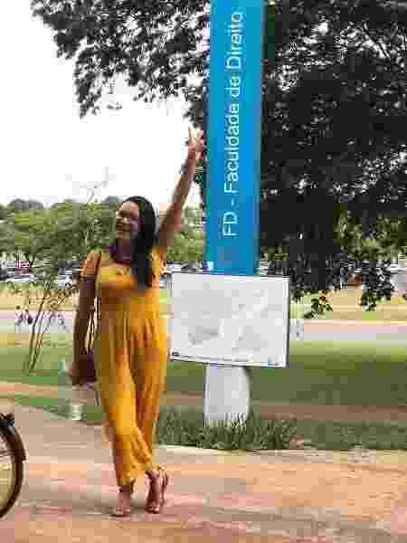 A advogada faz doutorado em Direito na UnB (Universidade de Brasília) e desde a graduação na UFBA (Universidade Federal da Bahia) estuda direitos territoriais indígenas. - arquivo pessoal - arquivo pessoal